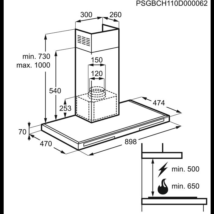 Electrolux - Seinälle kiinnitettävä tuuletin - EFB90566DX
