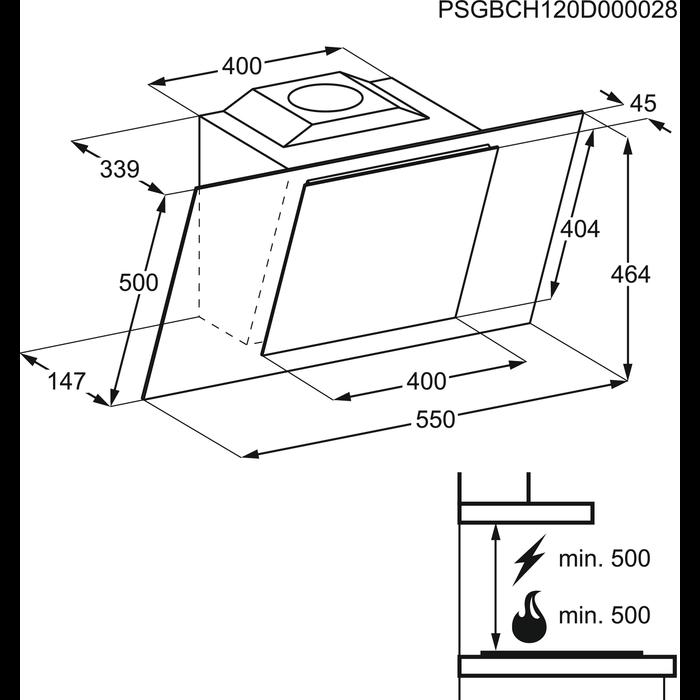 Electrolux - Hotte décorative - EFF55569DK