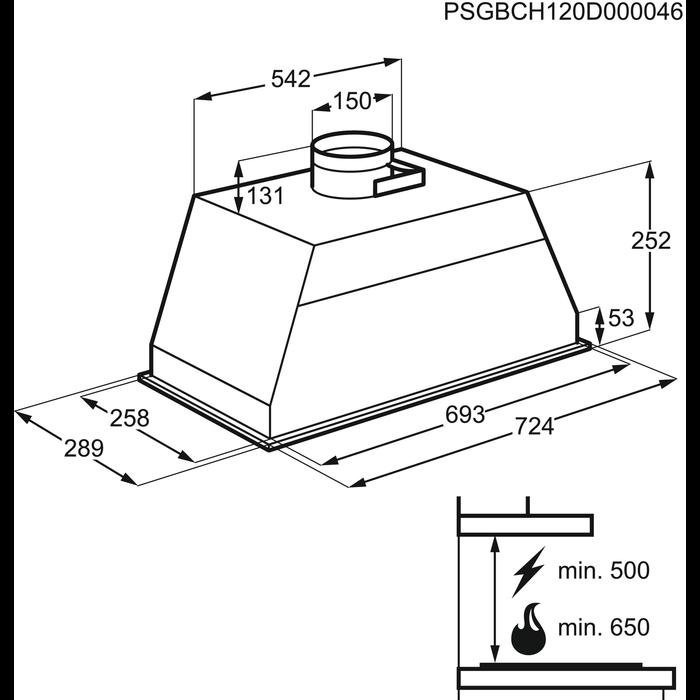 Electrolux - Hotte intégrée - EFGR70300X