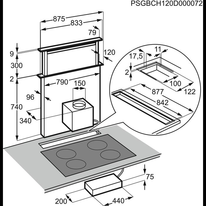Electrolux - Downdraft Hood - EFDP90690X