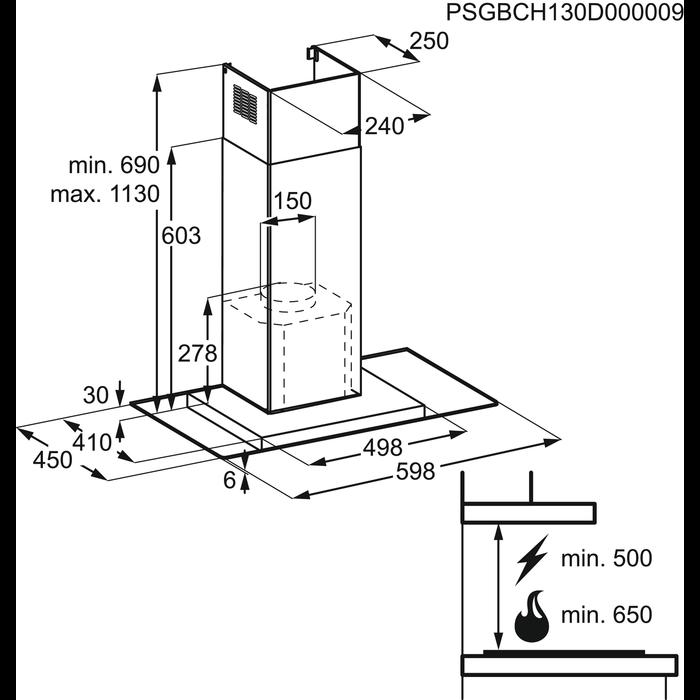 Electrolux - Chimney hood - EFV60440EX