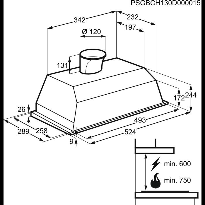 Electrolux - Встроенная вытяжка - EFG50250S