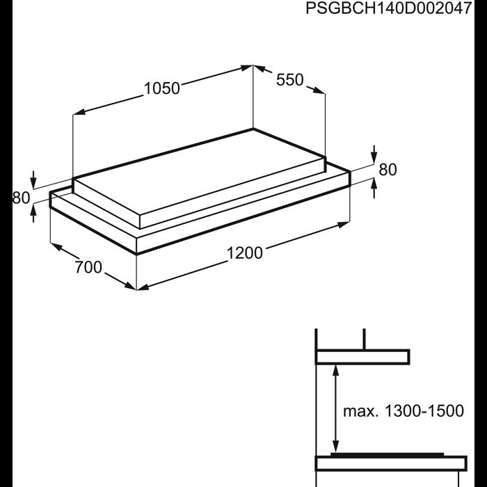 AEG - Ceiling Hood - DCK0270HG