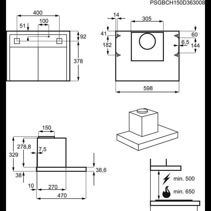 Electrolux - Tradisjonell ventilator - EFT6566OX