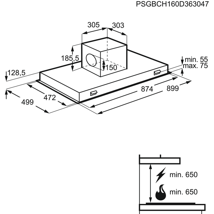 AEG - Plafondafzuigkap - DCE3960HM