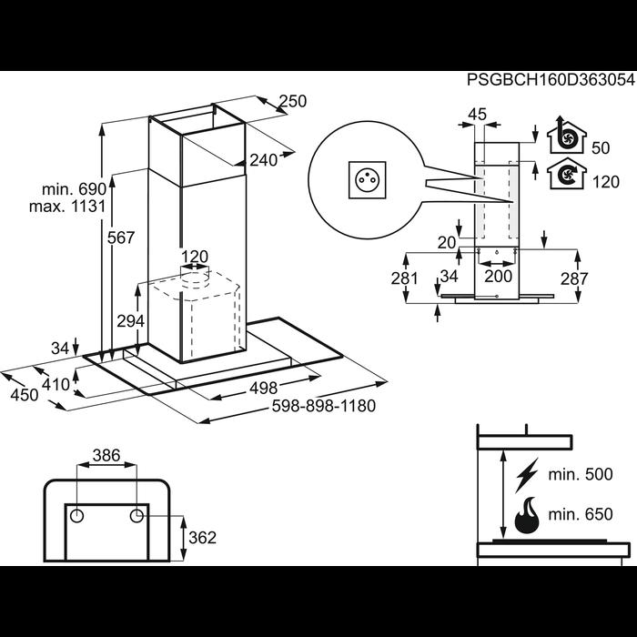 Electrolux - Chimney hood - EFV60437BX