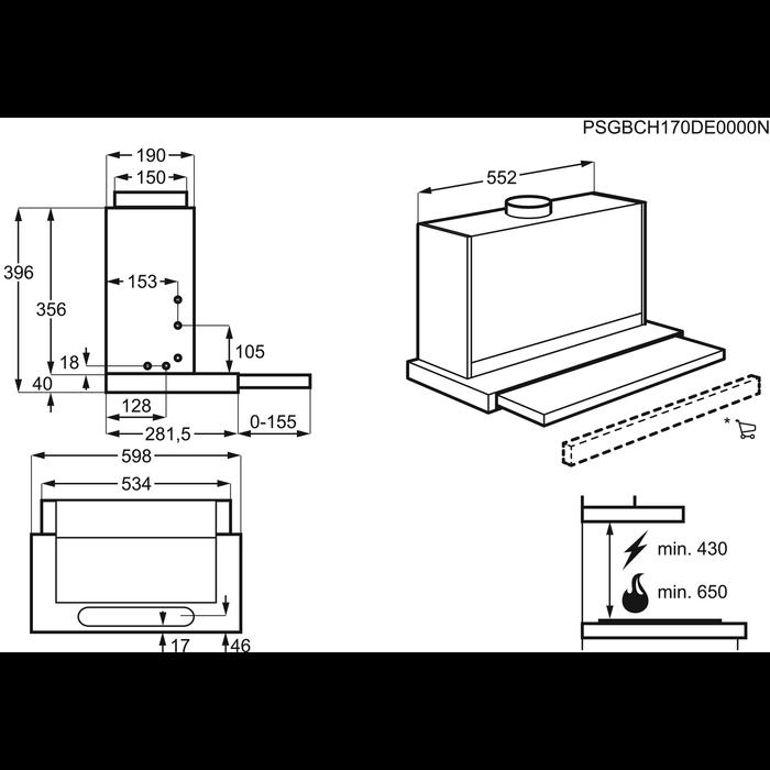 AEG - Flachschirm-Dunsthauben - X66164MP1