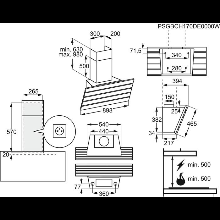 AEG - Schouwdampkap - DVK7990HB