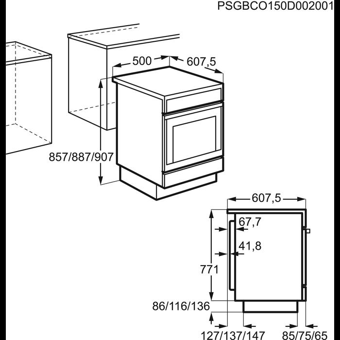 Electrolux - Elektrisk komfyr - EKC50150OW