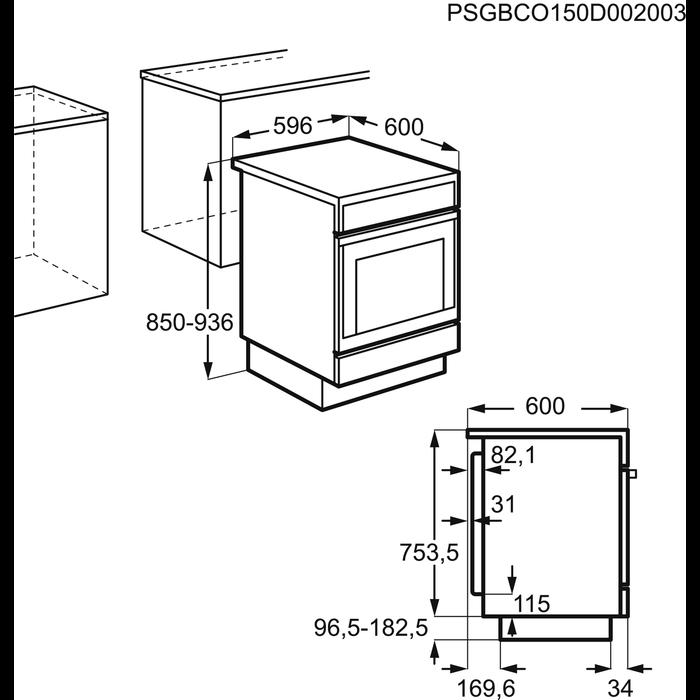 Electrolux - Elektrisk komfyr - Free-standing - EKI6051EOK