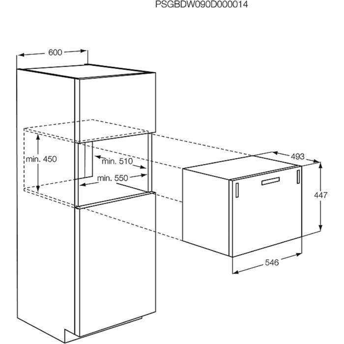 Electrolux - Lave-vaisselle compact encastrable - ESL2450W