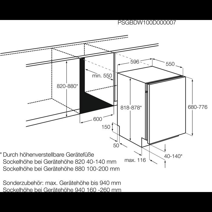 AEG - Inbouw vaatwasser - F55602VI0P