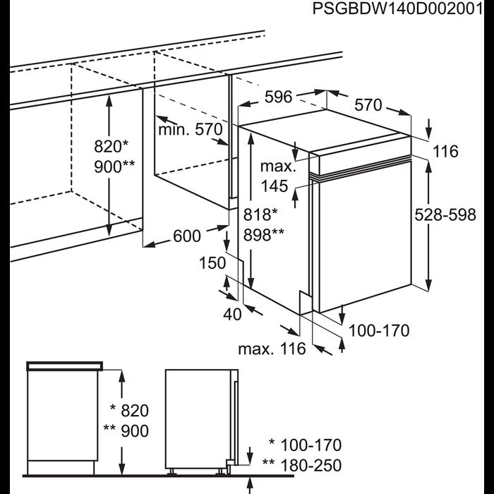 Electrolux - Lave-vaisselle encastrable - ESI5211LOW
