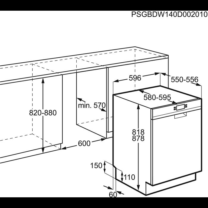 Electrolux - Frittstående oppvaskmaskin - ESF8530ROW