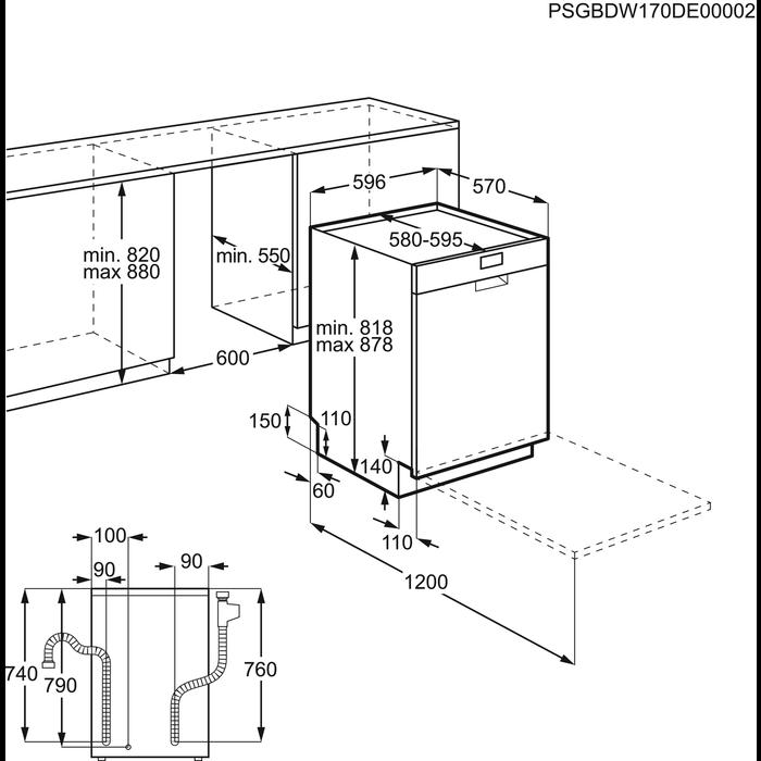 Electrolux - Frittstående oppvaskmaskin - ESF5533LOX