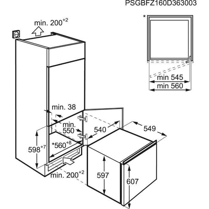 AEG - Inbouw diepvriezer - ABB66011AS