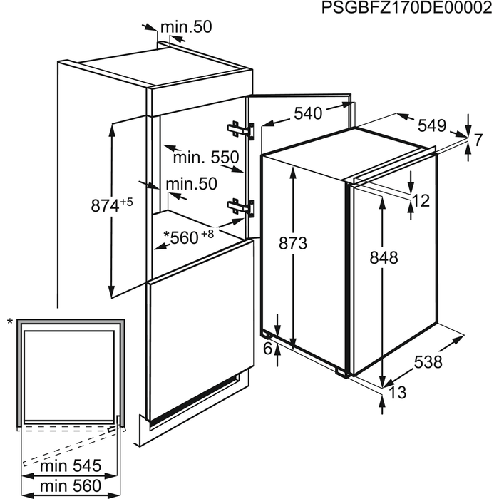 AEG - Inbouw diepvriezer - ABB68811LS
