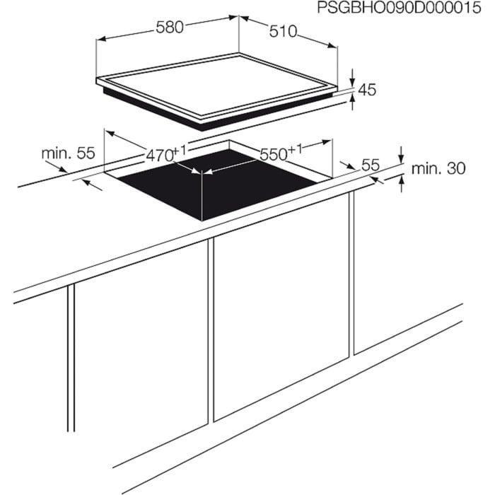 Electrolux - Table gaz - EGL6082NOK
