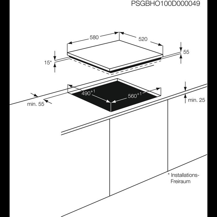 AEG - Induktions-Kochfelder - HC652601EB