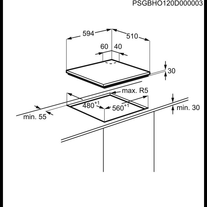Electrolux - Газовая варочная панель - EGG96243NX