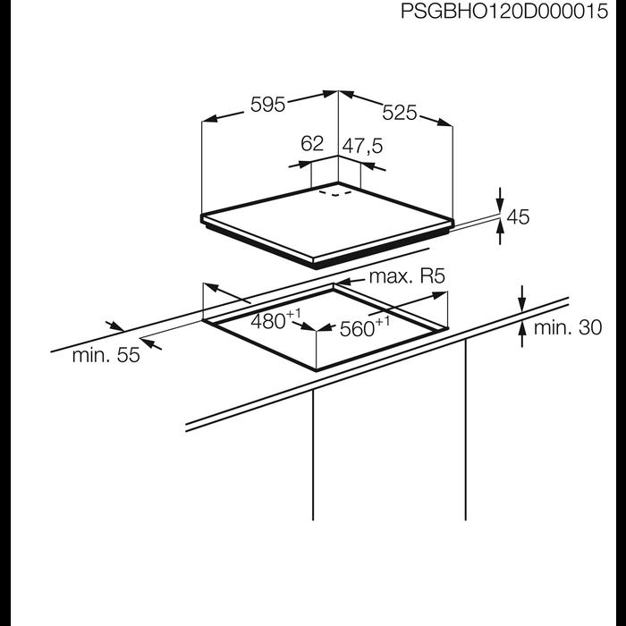 AEG - Piano cottura gas - HG654421UM