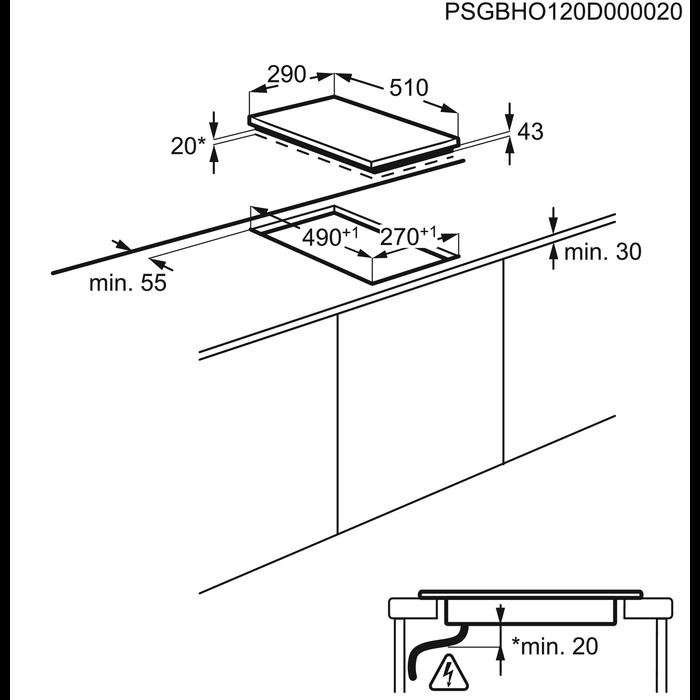 Electrolux - Table électrique - EHF3920VOX