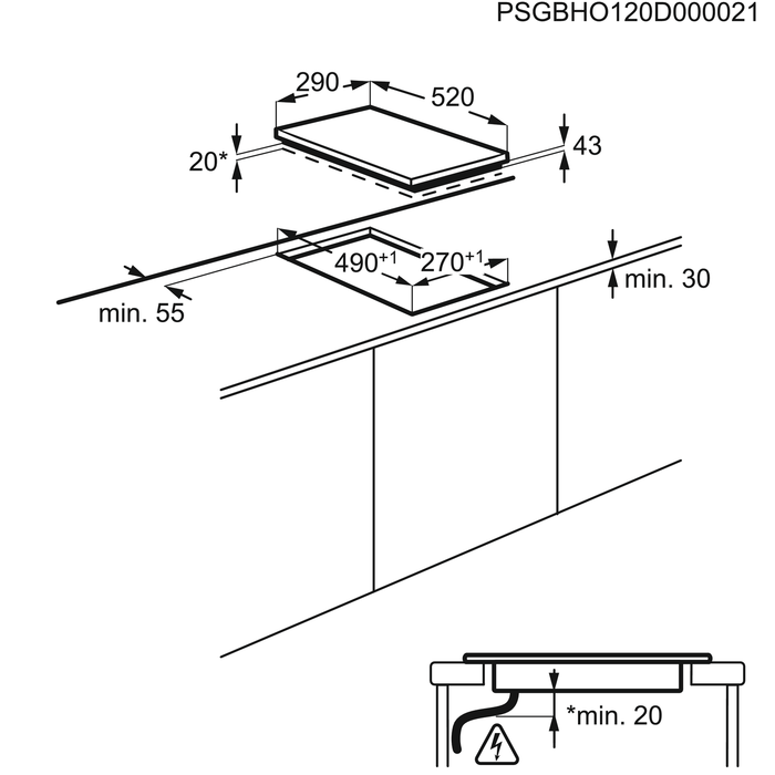 Electrolux - Indukčný varný panel - EHH3920BVK