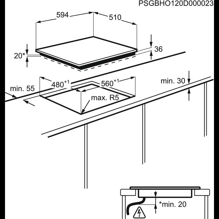 Electrolux - Table électrique - EHS6940HOX