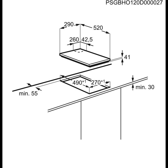 Electrolux - Płyta gazowa - EGC3322NVK