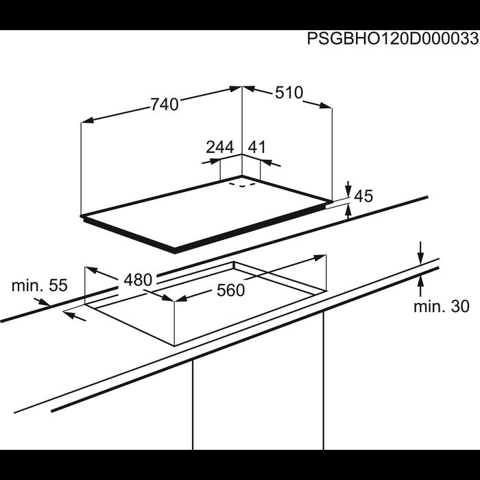 AEG - Placa de gas - HG795440NB