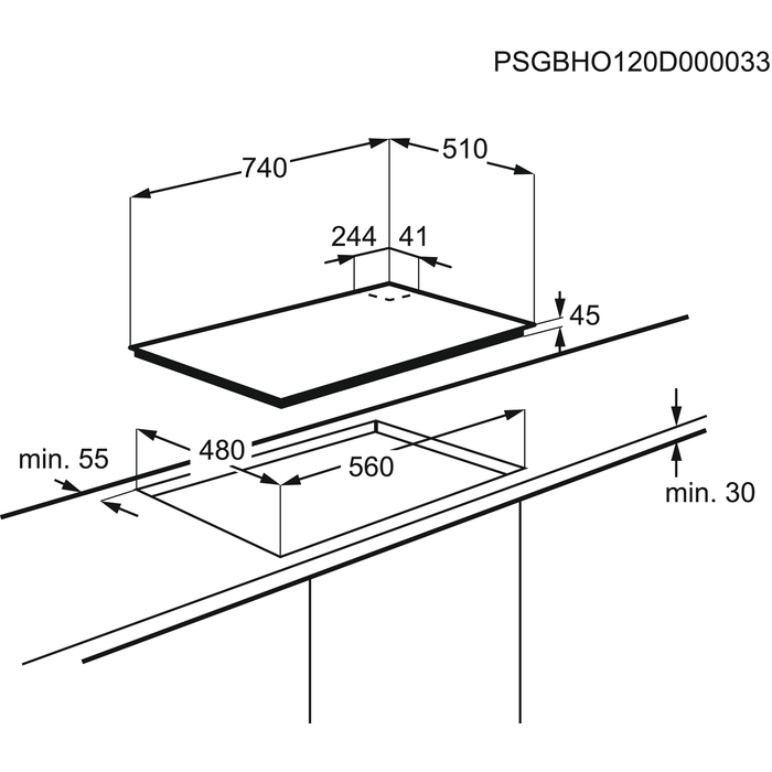 Electrolux - Газовая варочная панель - EGT97657NK