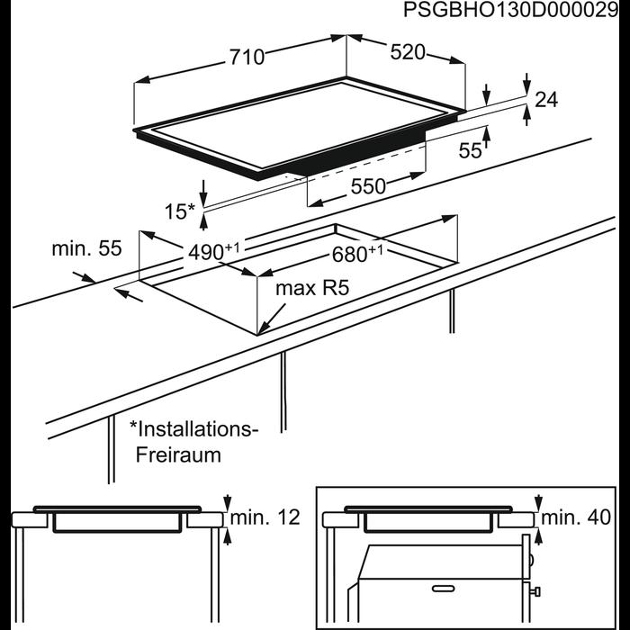 AEG - Table de cuisson à induction - HK774400FB