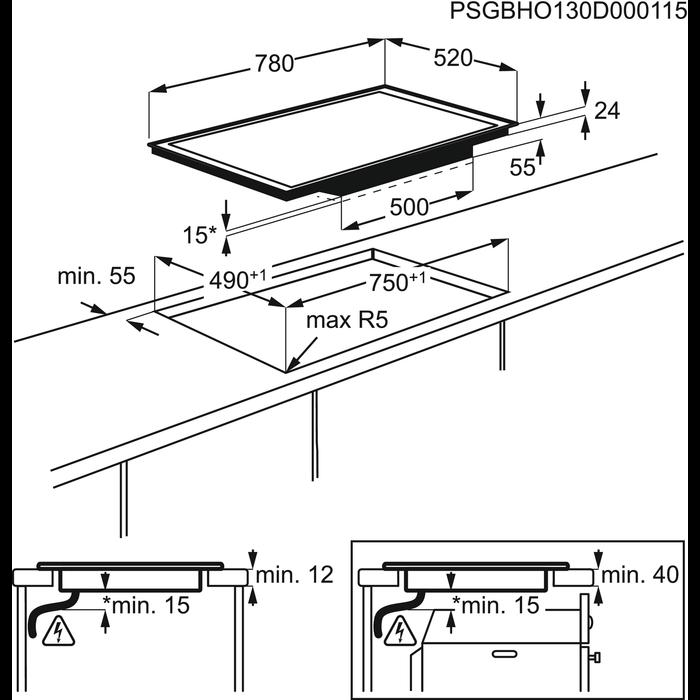 AEG - Table de cuisson à induction - HK874400FB