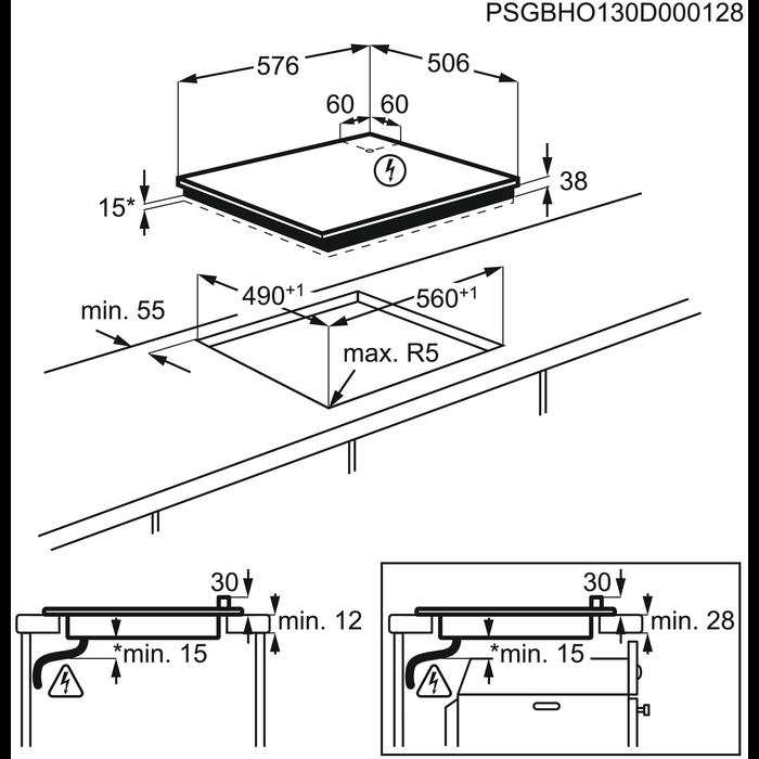 Electrolux - Электрическая варочная панель - EHF56747XK
