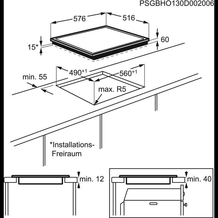 Zanussi - Индукционная варочная панель - ZEM56740XB