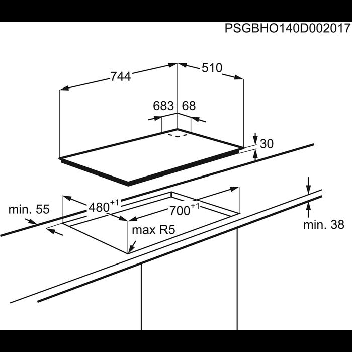 Zanussi - Placa a gás - ZGG76534XA