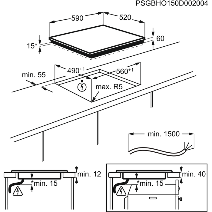 Electrolux - Indukciós főzőlap - EHH6240ISK