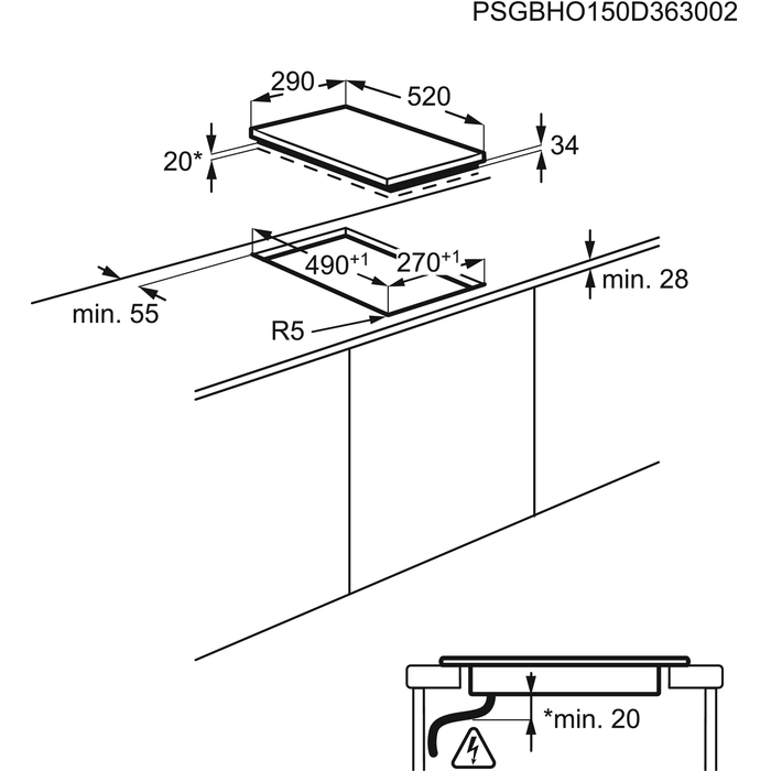 Electrolux - Električna ploča - Ugradbeni - EHF3320NOK