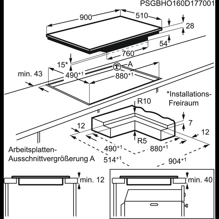AEG - Induktions-Kochfelder - HKP95510IB