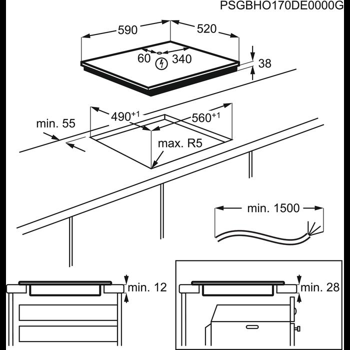 Electrolux - Elektrisk platetopp - HOC621