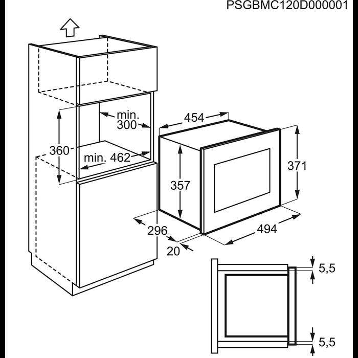 Electrolux - Inbyggd mikrovågsugn - EMS17005OX