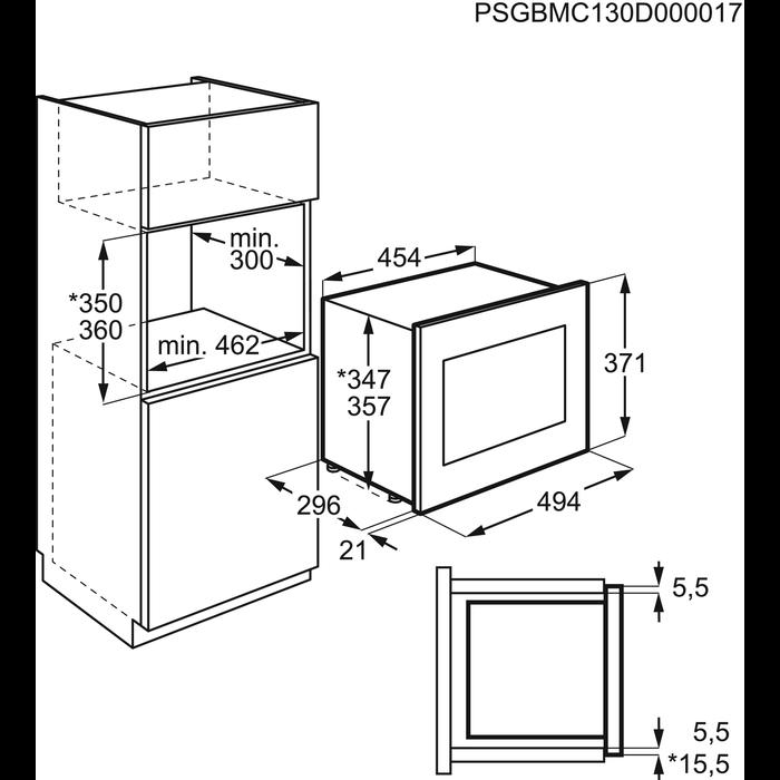 Electrolux - Inbyggd mikrovågsugn - EMS17175OW