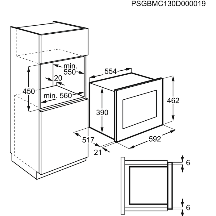 AEG - Inbouw microgolfoven - MCC4061E-M