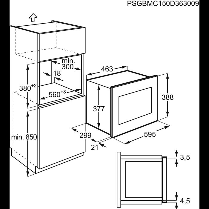 Electrolux - Integrert mikrobølgeovn - EMM17007OX