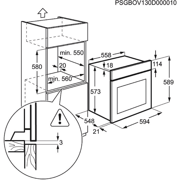 Electrolux - Four - EEC5700AOX