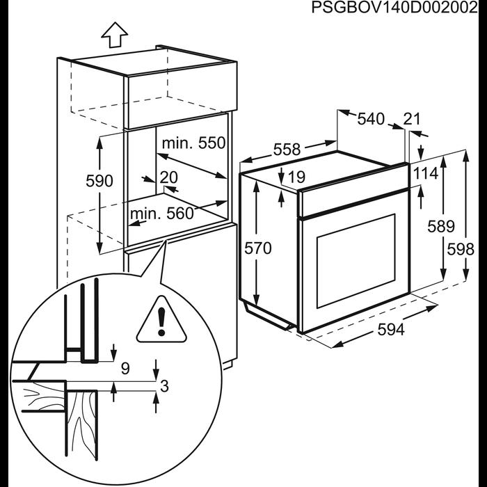 Zanussi - Einbaubacköfen- und herde - ZOB20301XV