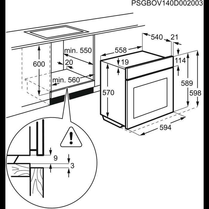 Zanussi - Einbaubacköfen- und herde - ZOU20311XK