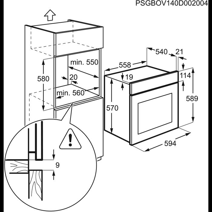 Electrolux - Rúra - EZB3410AOK