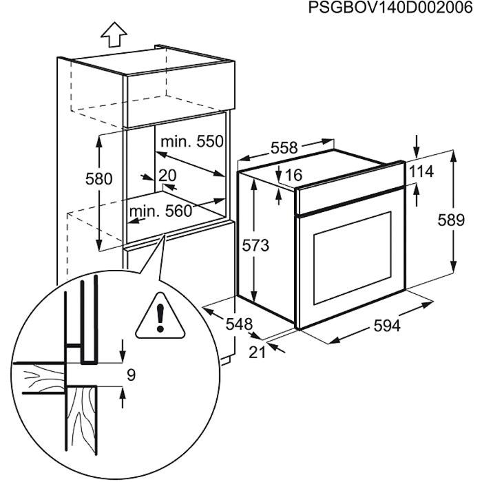 Zanussi - Electric Oven - ZOA35526XK