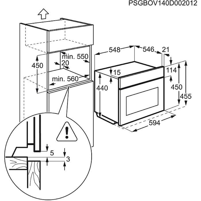 AEG - Компактный духовой шкаф - KS845680GM